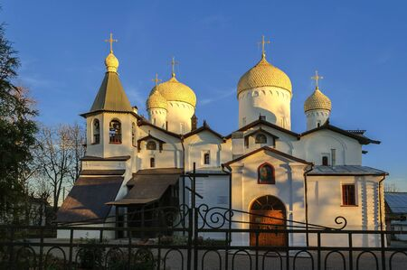 apostle: The ancient church of St. Philip the Apostle and St. Nicholas in Veliky Novgorod Stock Photo