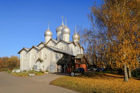 boris: Church of the Saint Boris and Saint Gleb in Plotniki, Veliky Novgorod Stock Photo