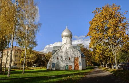 veliky: The ancient Blasius church in Veliky Novgorod, Russia