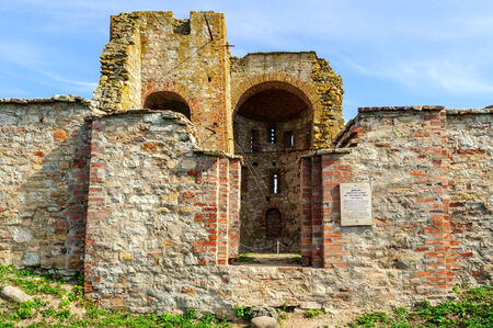 annunciation: Ruined Church of the Annunciation at the Rurik settlement in Veliky Novgorod