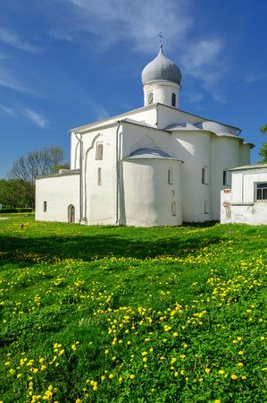 assumption: Assumption Church at the Trade Courtyard at sunset, Veliky Novgorod