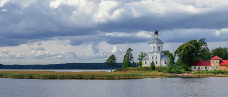 exaltation: Church of Exaltation of the Cross at Lake Seliger in Russia