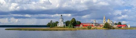 orthodoxy: Nilo-Stolobensky Monastery in Ostashkov in Tver region, Russia Stock Photo