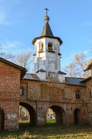 veliky: Bell tower of the church of the Annunciation at the Marketplace in Veliky Novgorod
