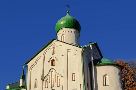 veliky: Fragment of church of St. John the Evangelist on Vitka river, Veliky Novgorod