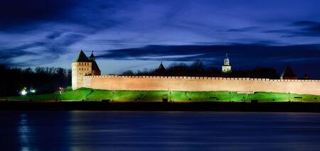View on Novgorod Kremlin at night