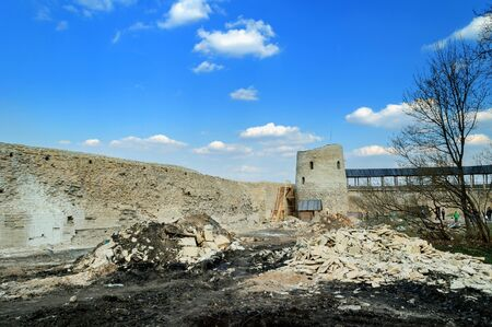 Izborsk fortress,ancient russian fortress of the northwest, in the process of restoration