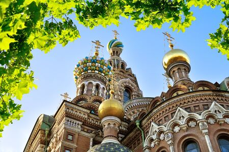 tourism in russia: Cathedral of Our Saviour on Spilled Blood in Saint-Petersburg, Russia