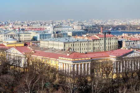 birdseye view: Panorama of St. Petersburg -  birds-eye view Stock Photo