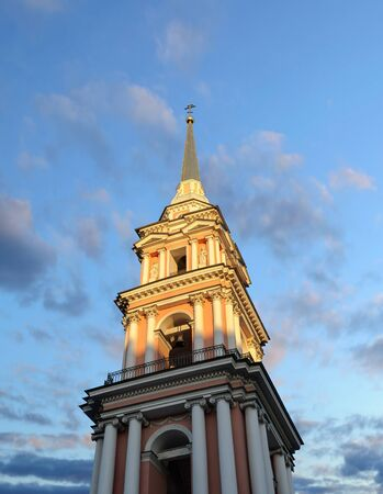 cossack: Belfry 1812 of Holy Cross Cossack Cathedral in St. Petersburg, Russia