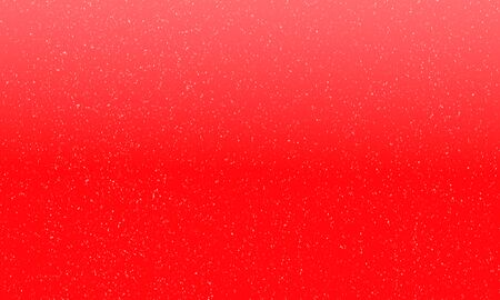 red star: Bright red background with falling snowflakes. Raster illustration Stock Photo