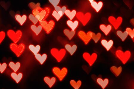 St Valentines Day red heart bokeh background