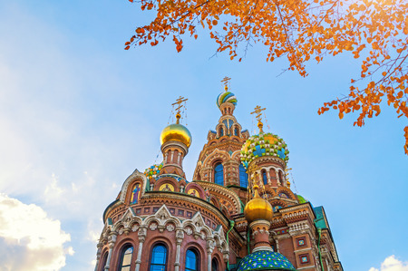 jesus standing: Saint Petersburg, Russia Cathedral of Our Savior on Spilled Blood Stock Photo