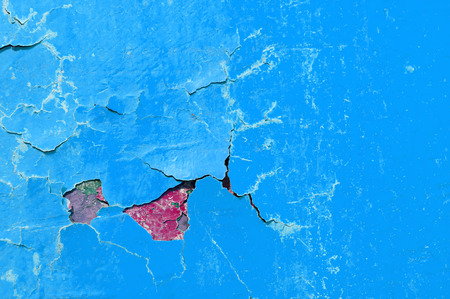 Texture background of blue and red peeling paint Stock Photo