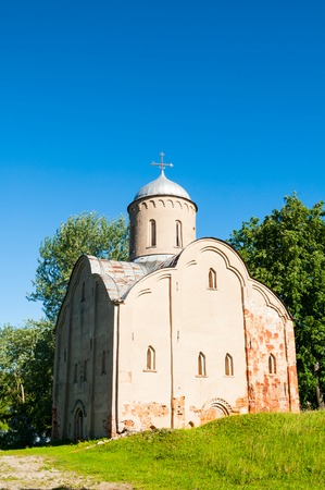 Veliky Novgorod, Russia. Church of Peter and Paul at Slavna in Veliky Novgorod, Russia, architecture spring landscape Editorial