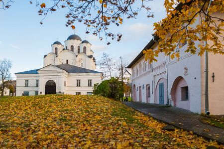 Veliky Novgorod,Russia. St. Nicholas Cathedral - ancient cathedral in the Yaroslav Courtyard, Veliky Novgorod,Russia Stock Photo