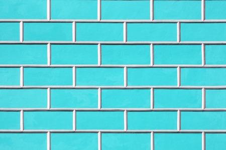 Brick wall background - new bricks wall pattern. Texture brick wall of blue color