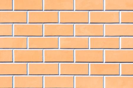 Brick wall background - new bricks wall pattern. Texture brick wall of beige color