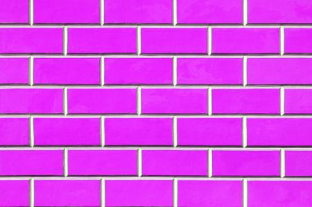 Brick wall background - new bricks wall pattern. Texture brick wall of pink color Stock Photo
