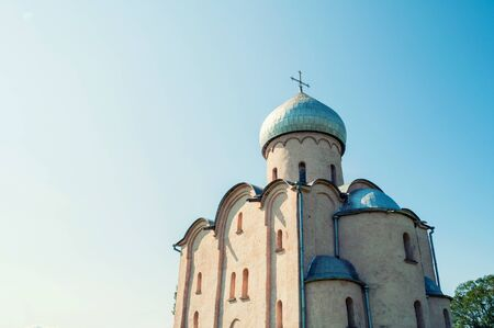Veliky Novgorod, Russia. Saviour Church on Nereditsa, the orthodox church built in 1198, one of Russias oldest churches in Veliky Novgorod, Russia