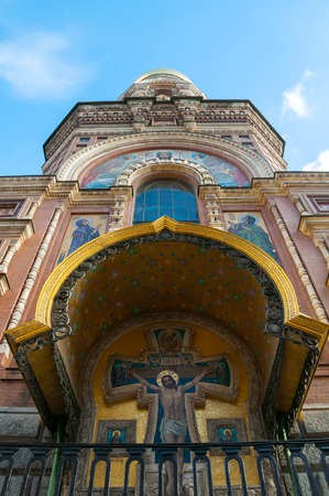 St Petersburg, Russia. Cathedral of Our Savior on Spilled Blood in Saint Petersburg, Russia, city landscape