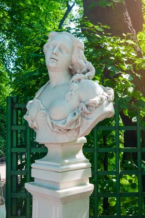 St Petersburg, Russia - June 6, 2019. The sculpture of Amazon in the Summer Garden. Summer garden - the most famous garden of Saint Petersburg Russia Sajtókép
