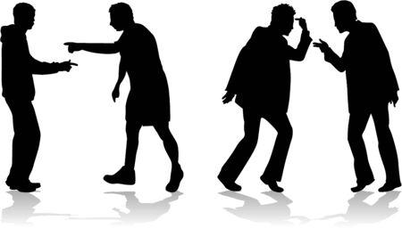arguing: Mens arguing scenes Illustration