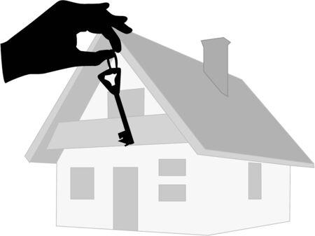 key to new home Banco de Imagens - 6442124