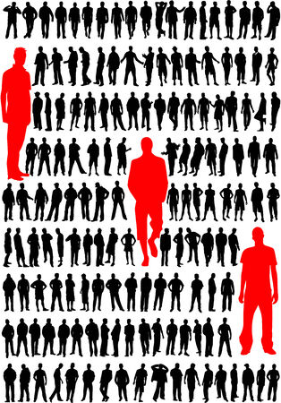 personne seule: mode hommes vecteur