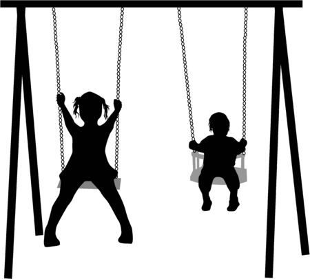 on the swing Vector
