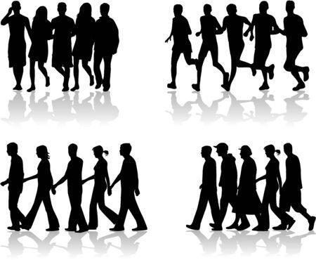 Walking People Vector
