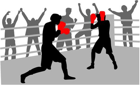 Combattere sul ring Archivio Fotografico - 6468088