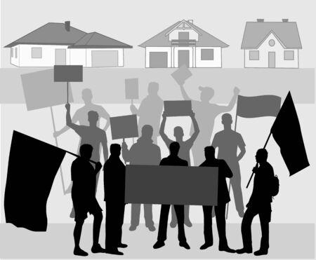 Demonstration - illustration Illustration
