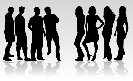 people are divided into groups Vector