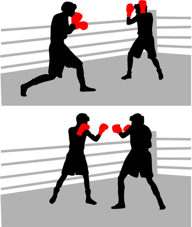 boxing fight Stock Vector - 6468096