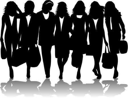 shopping women Stock Vector - 6468119