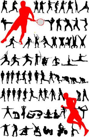 sport silhouette  Vector