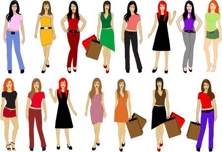 Fashion lady's  Illustration