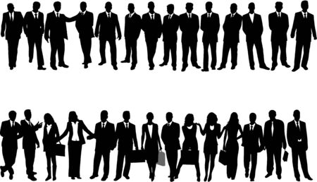 Illustration of business people Vector