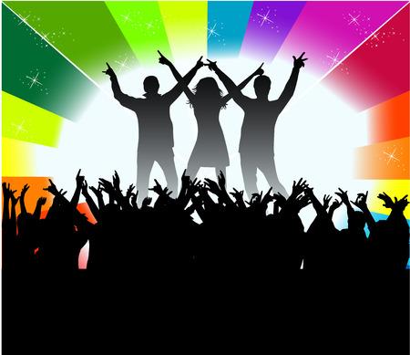 dancing peopl - audience Stock Vector - 6507187