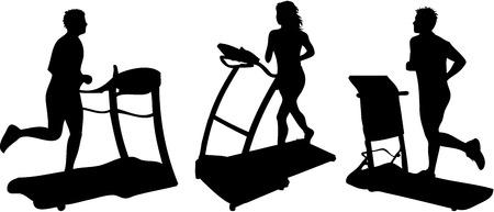 treadmill: sprinter Illustration