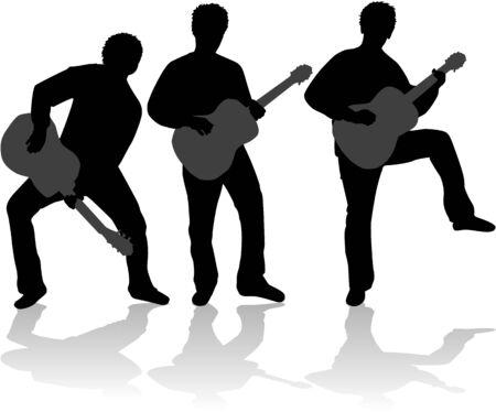 Guitar player vector illustration Vector