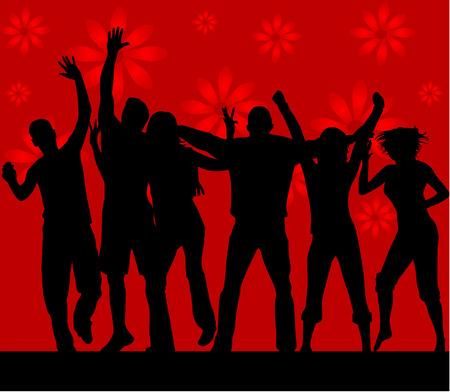 listeners: Dance silhouettes - vector work