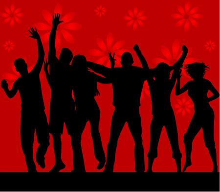 Dance silhouettes - vector work Stock Vector - 6648786