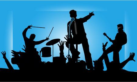 femme avec guitare: Musiciens partie concert band 2