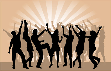 Party Crowd 2 Stock Vector - 6648801