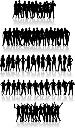 People - vector work Stock Vector - 6648805