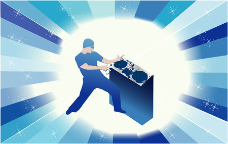 disc jokey -  dj Illustration