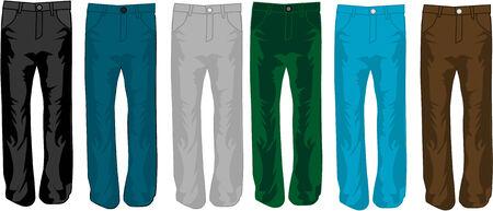 jean: Pants color, illustration, vecor work Illustration