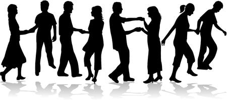 traditional dance: Insieme di coppia danzante